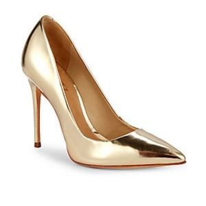 SCHUTZ Gold Metallic Caiolea Pumps